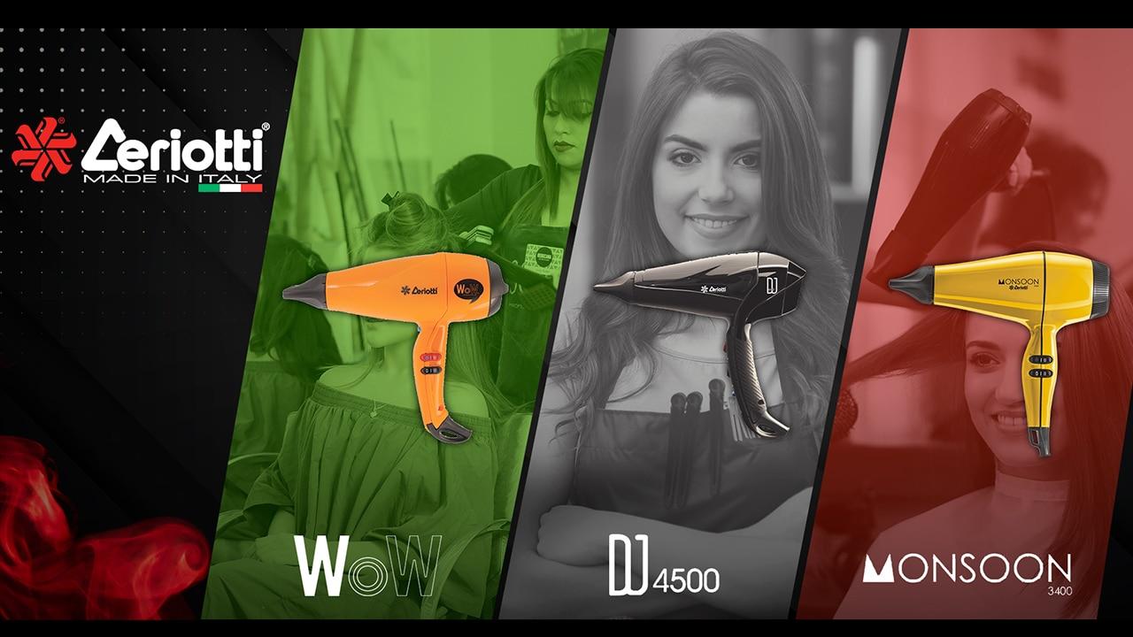 Ceriotti marca italiana de secadores profesionales de cabello que llega a Colombia